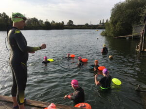 Coaching 8 deaf swimmers at Reading Lake Hotel